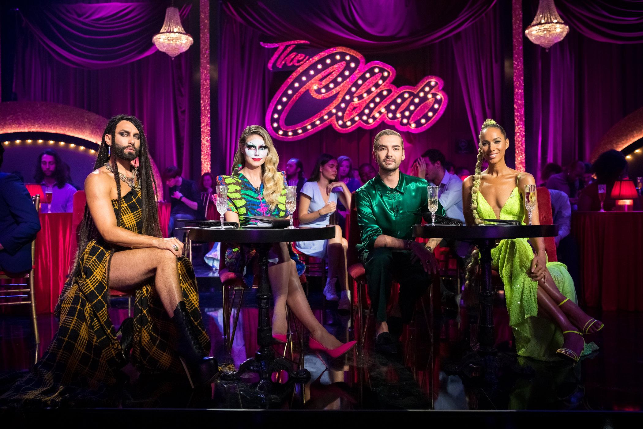 Conchita Wurst, Heidi Klum, Bill Kaulitz und Leona Lewis.