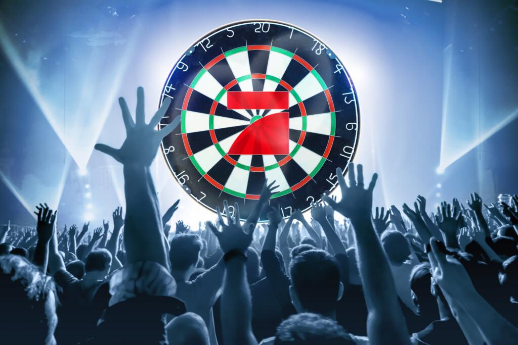 """Bereits zum dritten Mal lädt ProSieben zur """"Promi-Darts-WM"""" und lässt sechs internationale Weltklasse-Spieler an der Seite von Prominenten gegeneinander antreten."""