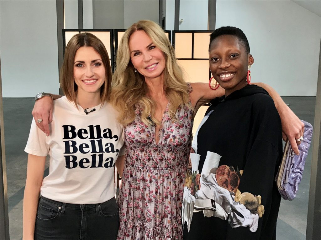 V.l.: Bella Lesnik, Rosalie van Breemen und Toni Loba