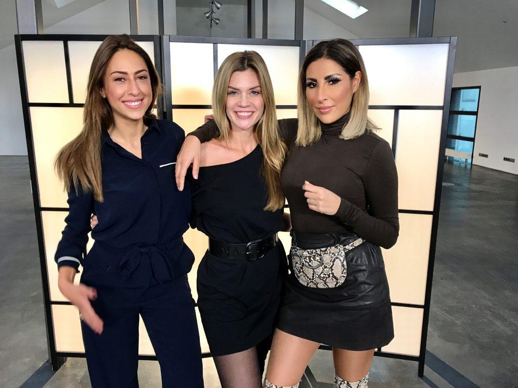 V.l.: Melissa Khalaj, Nadine Klein, Senna Gamour