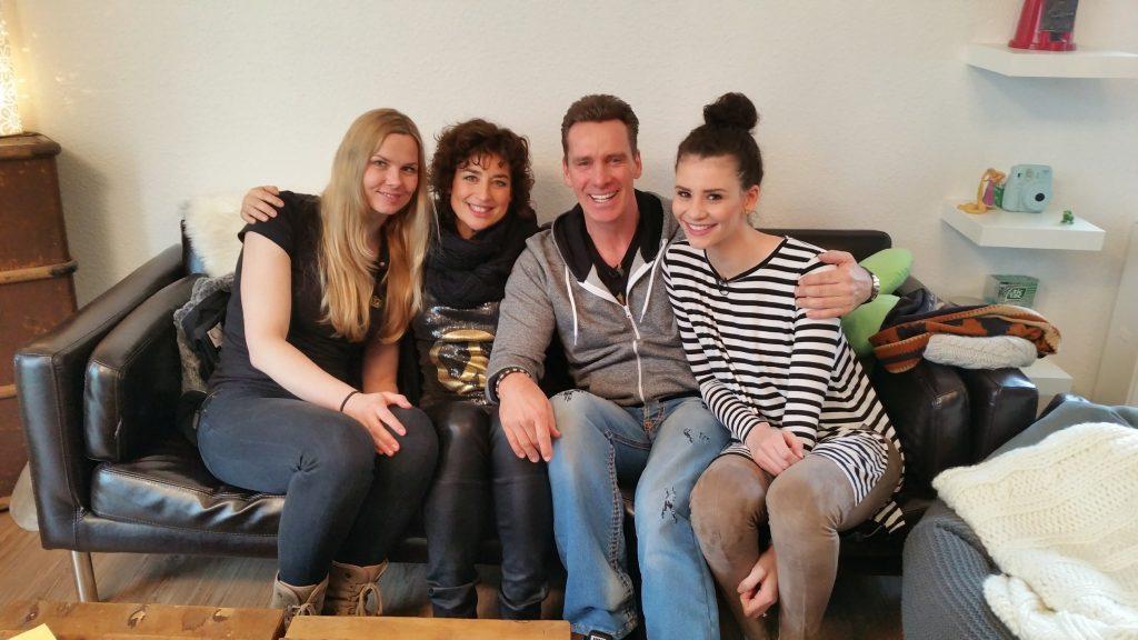 V.l.: Britta Steffen, Jürgen Milski, Isabell Varell und Betty Taube