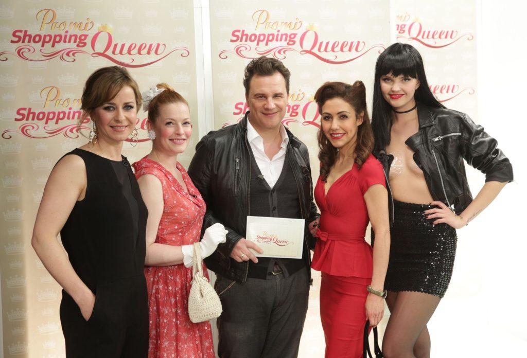 Shopping-Mädels unter sich (v.l.:) Bettina Cramer, Enie van de Meiklokjes, Guido Maria Kretschmer, Anastasia Zampounidis und Bonnie Strange.