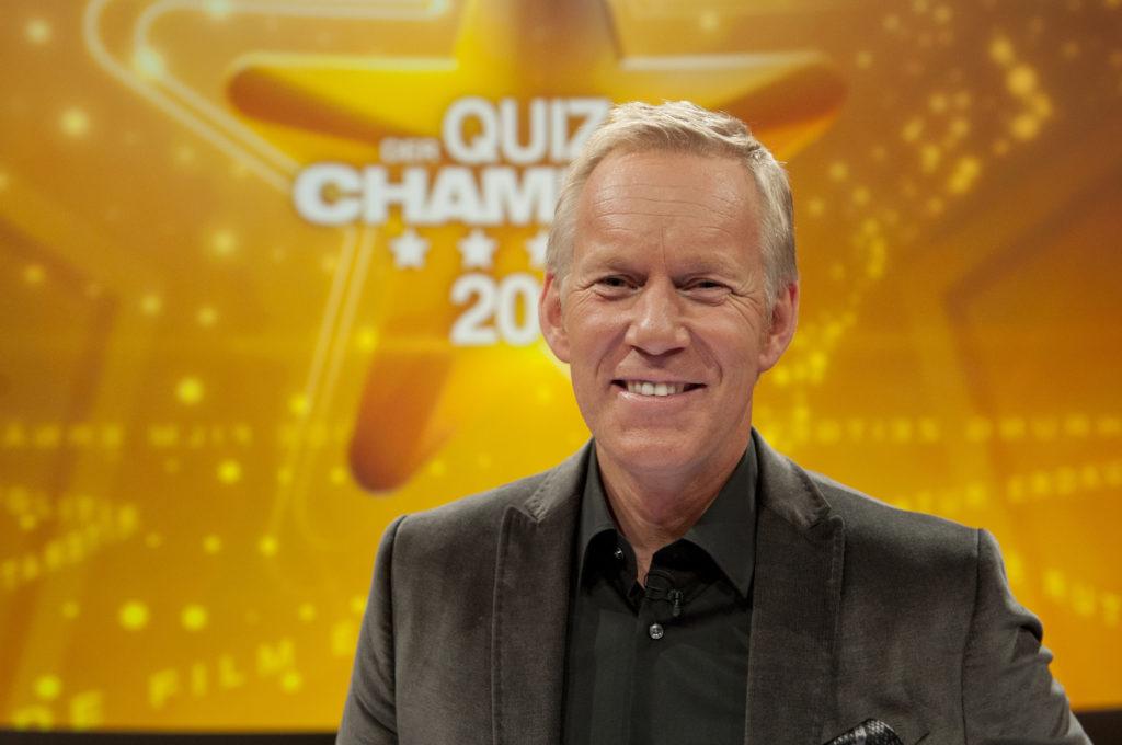 """Auch in 2015 moderiert Johannes B. Kerner die Sendung """"Der Quiz-Champion"""" im ZDF"""