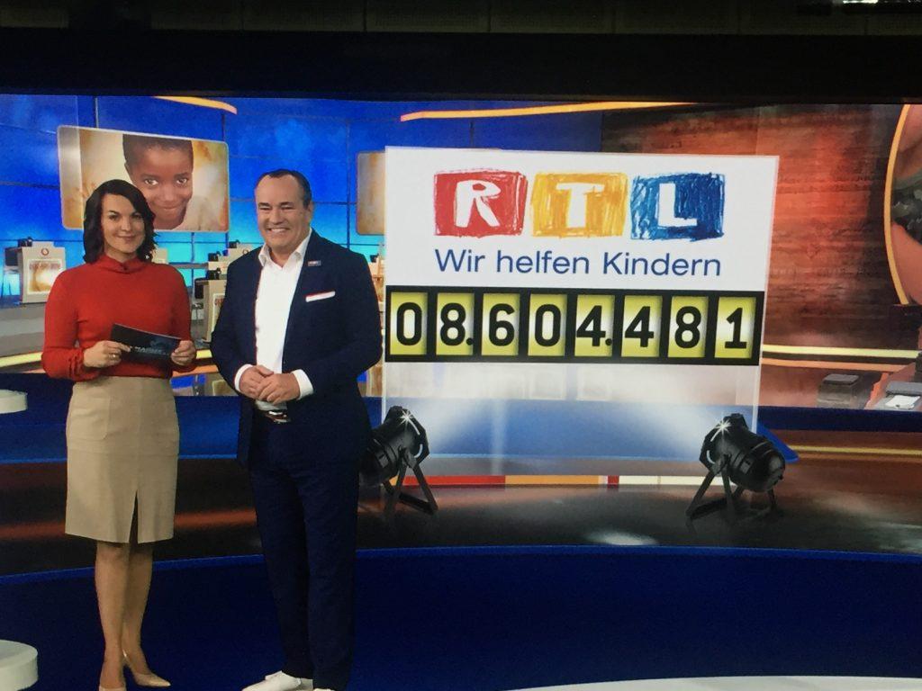 8.604.481 Euro Spenden konnten beim 23. RTL-Spendenmarathon mit Wolfram Kons in diesem Jahr gesammelt werden.
