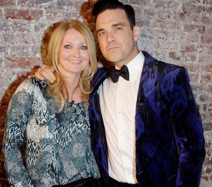 Frauke Ludowig und Robbie Williams