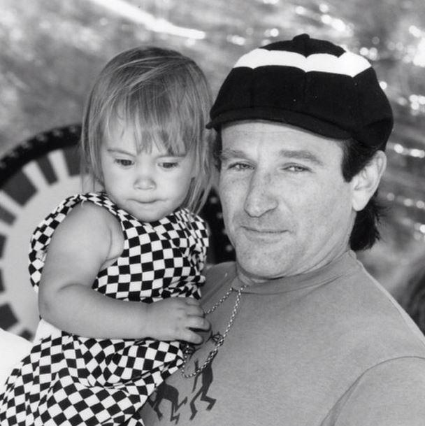 Robin Williams mit seiner Tochter Zelda Rae Williams