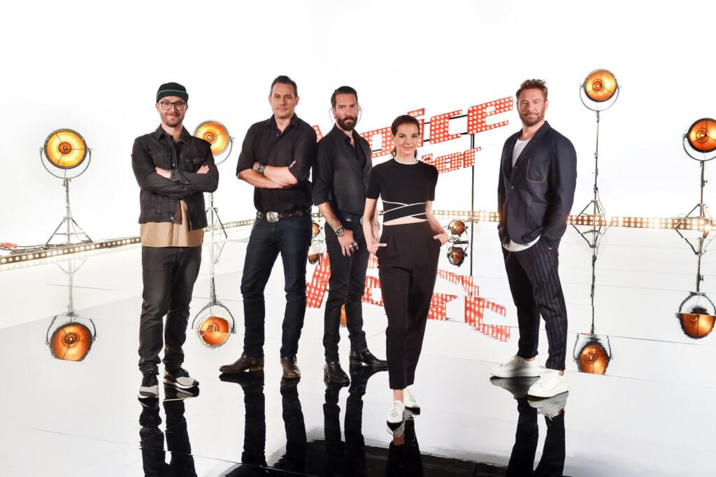 (v.l.n.r.) Mark Forster; Sascha Vollmer; Alec Völkel; Yvonne Catterfeld; Sasha