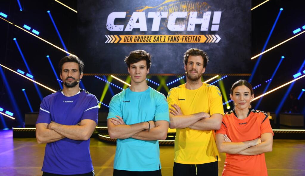 Die Teamkapitäne Luke Mockridge, Jeannine Michaelsen, Tom Beck und Wincent Weiss jagen sich mit ihren Vierer-Teams in sieben Spielrunden mit unterschiedlichen Fang-Disziplinen gegenseitig, bis zum Sieg.