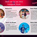 Superkids 2016 Folge 2 - Kandidaten im Bereich Musik