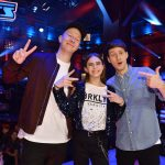 The Voice Kids 2020 Finale - Talent Leroy mit den Coaches Florian Sump und Lukas Nimscheck