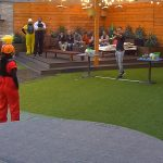Big Brother Tag 17 – Christian beim Match Wilhelm Tell