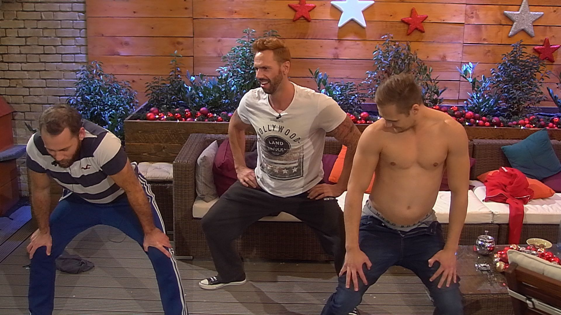 Big Brother Tag 72 - Thomas, Guido und Christian tanzen