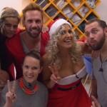 Big Brother Tag 76 - Sarah Nowak mit den Bewohnern