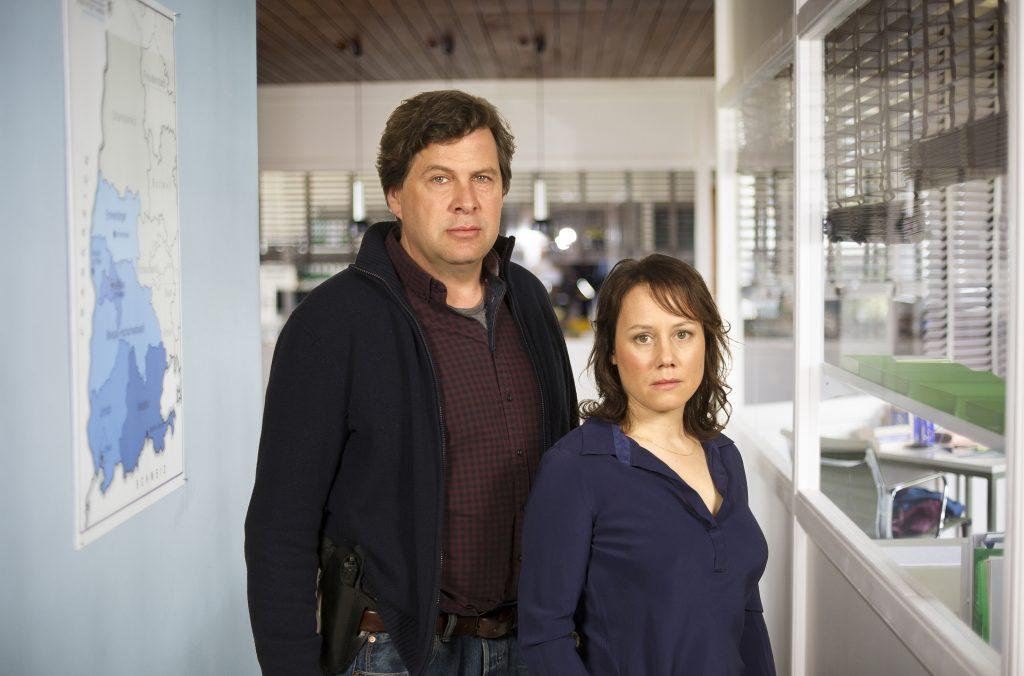 Eva Löbau als Hauptkommissarin Franziska Tobler und Hans-Jochen Wagner als Hauptkommissar Friedemann Berg.