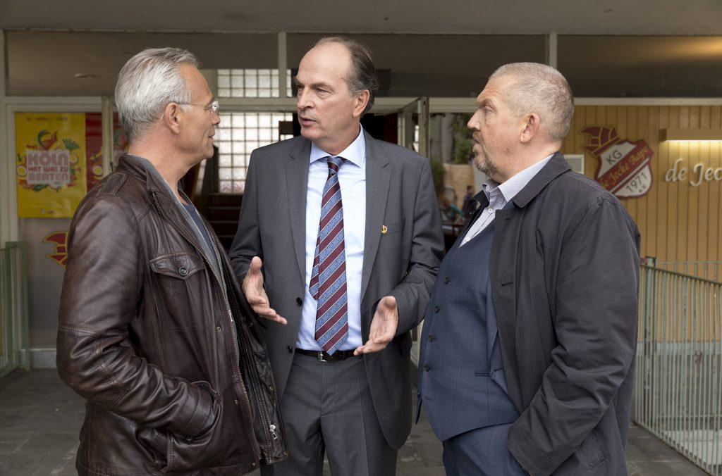 Günther Kowatsch (Herbert Knaup, M), Max Ballauf (Klaus J. Behrendt, l) und Freddy Schenk (Dietmar Bär, r).