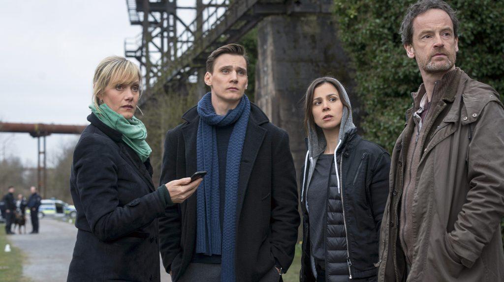 Mordkommission Dortmund: Martina Bönisch (Anna Schudt), Jan Pawlak (Rick Okon), Nora Dalay (Aylin Tezel) und Peter Faber (Jörg Hartmann, v.l.n.r.).