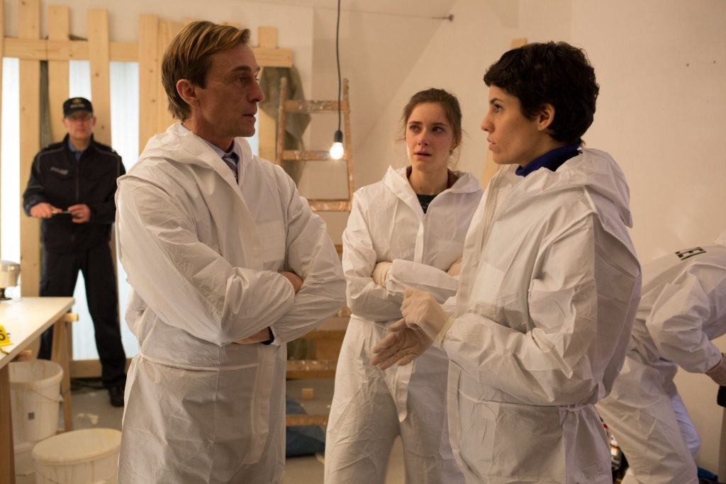 Rainer Stark (André Hennicke,li.) Natascha Stark (Miriam Stein,mitte) ,Jackie Müller (Jasmin Gerat,re.)