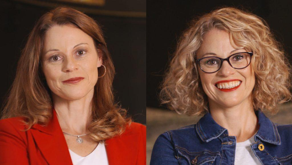 Stefanie Brandes (l.), Geschäftsführerin der Aldiana GmbH, TV-Show-Kandidatin Jana (r.)