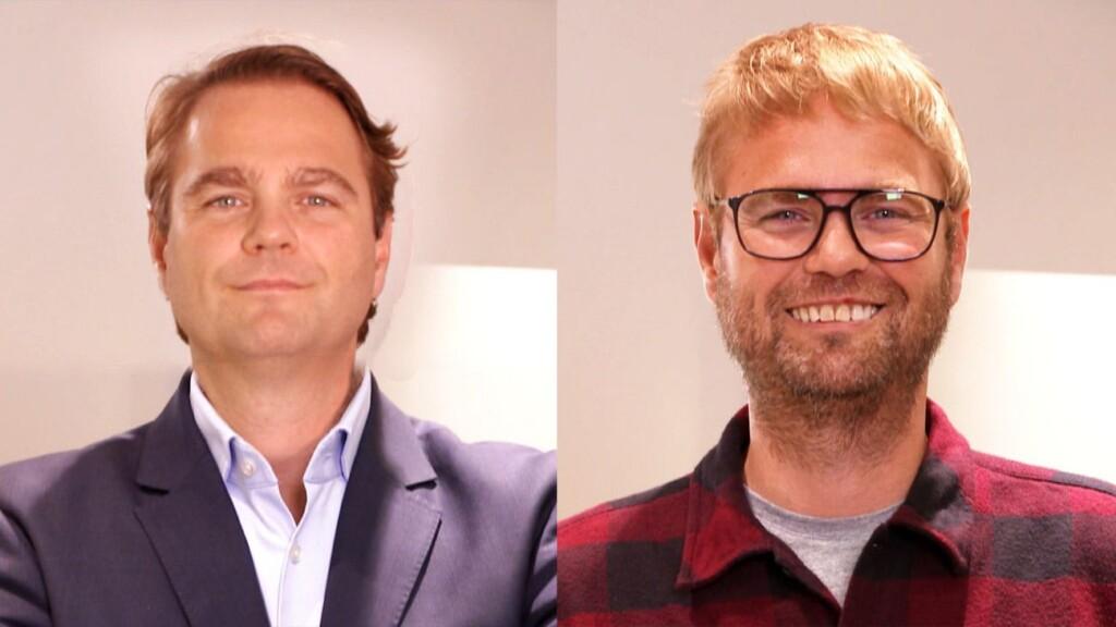 Geschäftsführer Niklas Köllner vor und nach der Verwandlung.
