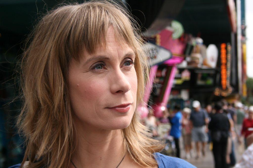 Moderatorin Sandra Eckardt suchte in Las Vegas nach Alexandras Vater Ernest.