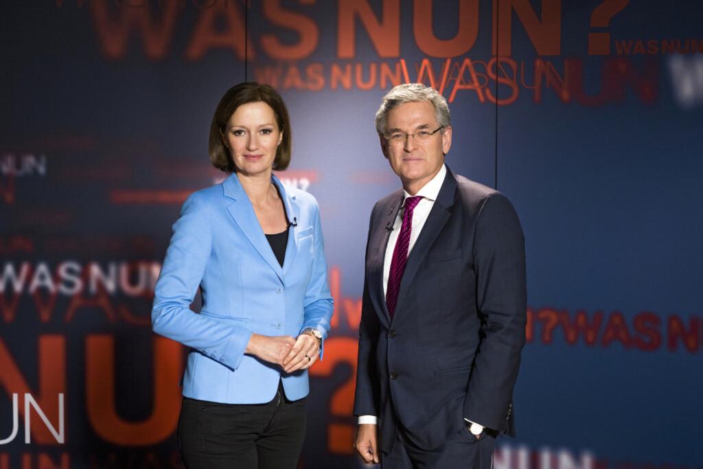 Bettina Schausten und Peter Frey.