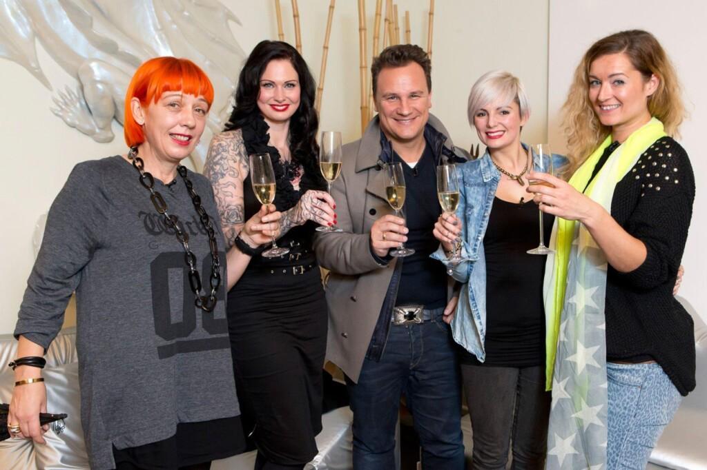 V.l.: Birgit, Nina, Guido, Jessica, Aleks