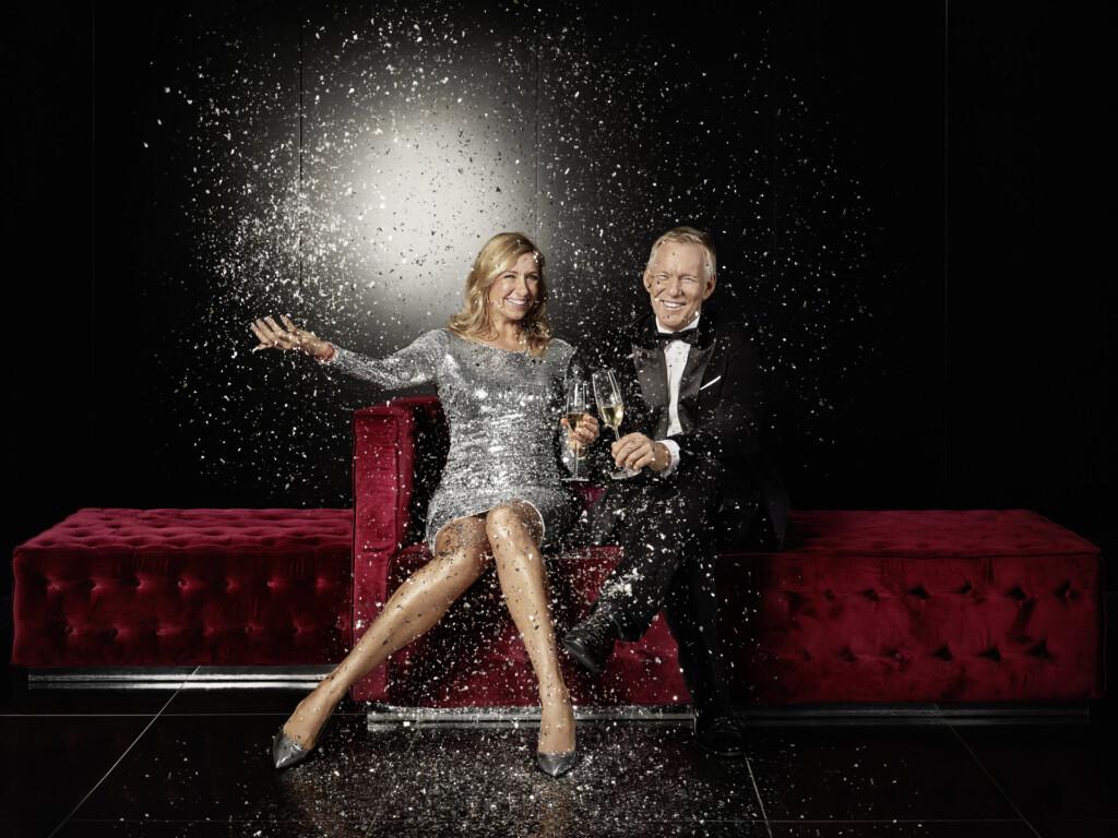 Andrea Kiewel und Johannes B. Kerner feiern mit den Zuschauern ins neue Jahr.
