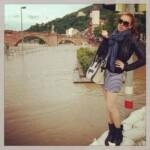 Georgina Fleur nimmt Stellung zu Hochwasser-Foto