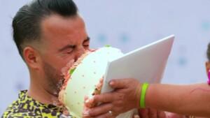 Kampf der Realitystars 2021 Folge 7 - Cosimo mit Torte im Gesicht