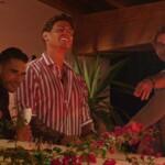 Aleks, Philipp und Sidney beobachten Date mit den Granaten