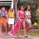 Die Mädels bei der Malibu-Party