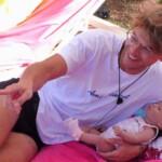 Sidney mit Baby Milou