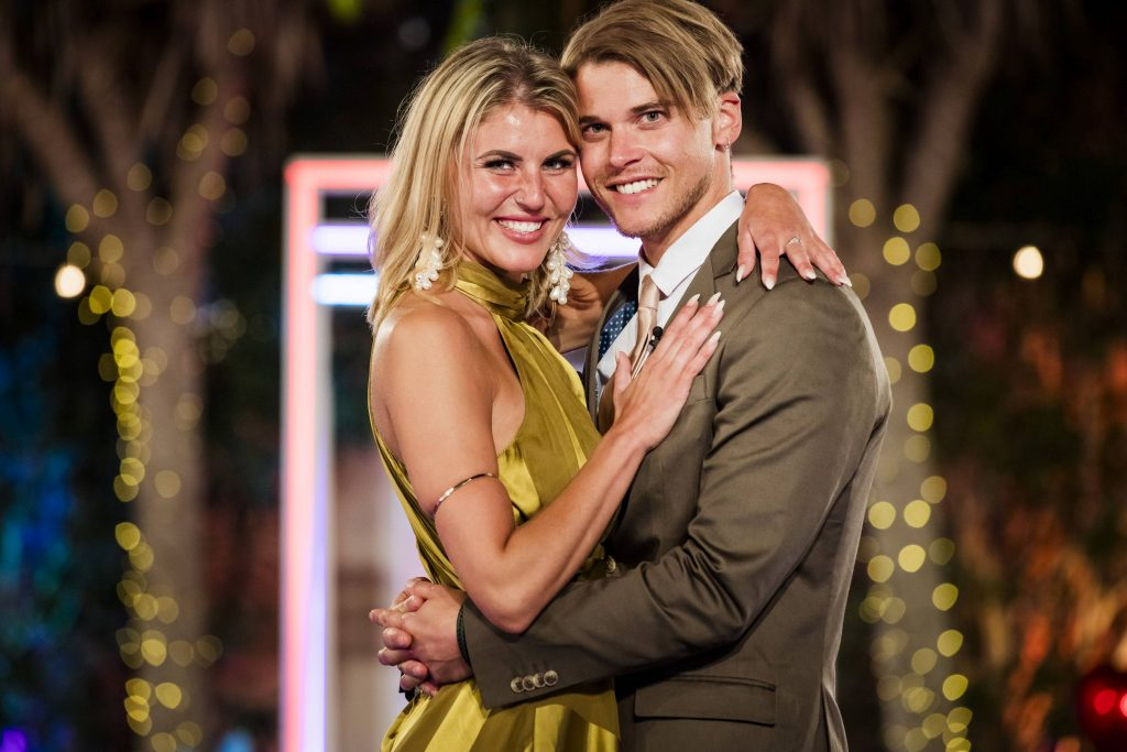 """Vivien und Sidney im großen Finale von """"Love Island""""."""