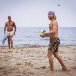Erik und Mischa am Strand