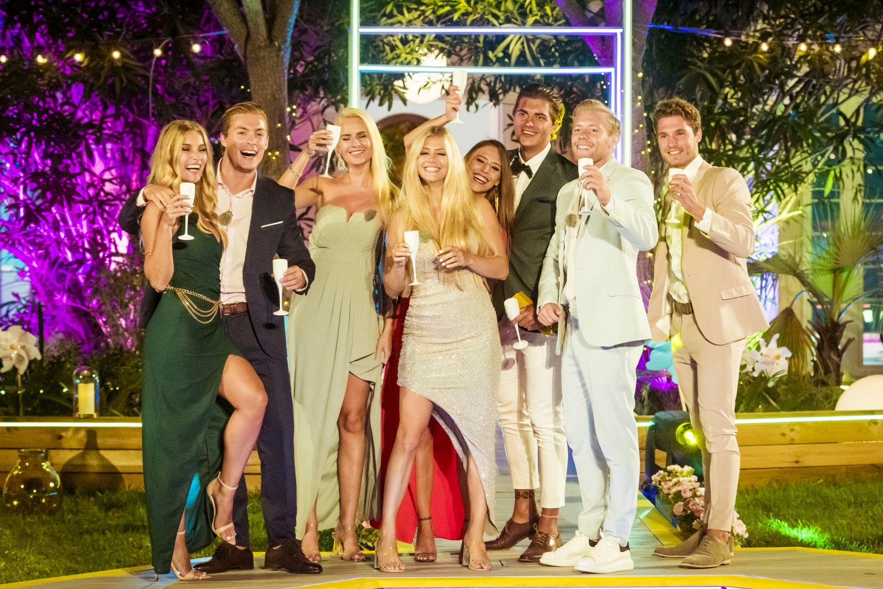 Sandra, Henrik, Anna, Chiara, Melina, Tim, Melvin und Marc sind die Finalisten von Love Island 2020.