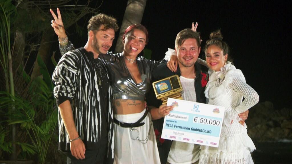 Kampf der Realitystars Finale - Sam, Kate, Gewinner Kevin und Melissa