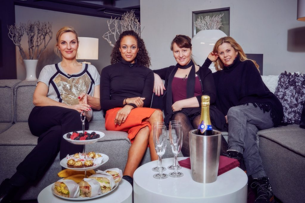 V.l.: Britt Hagedorn, Milka Loff Fernandes, Nina Vorbrodt und Michaela Schaffrath.