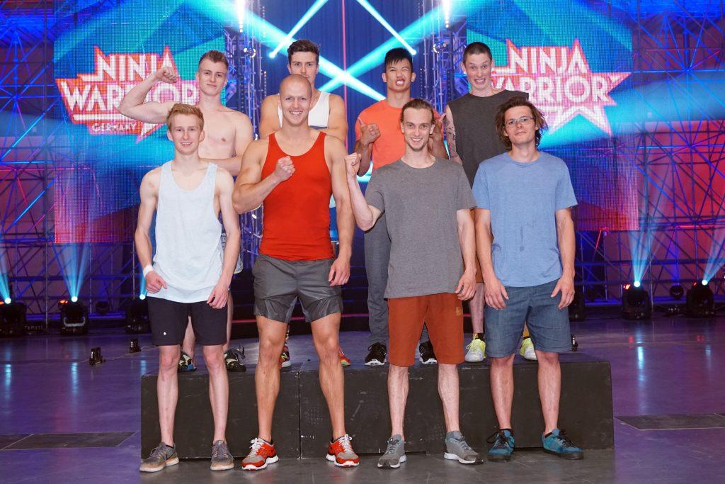 V.l. oben Johannes Schwitzgebel, Stefan Schäfer, Tony Tu, Marvin Mitterhuber, unten Alexander Averdunk, Sven Gedike, Alexander Wurm und Moritz Winkler.