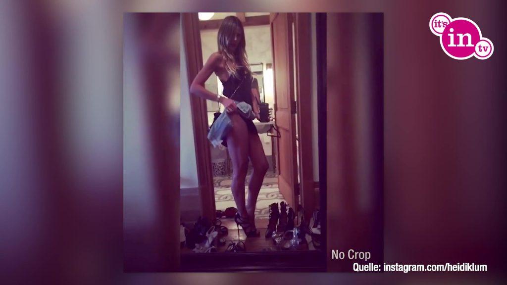 Heidi Klum macht ein süßes Gute Nacht-Selfie.