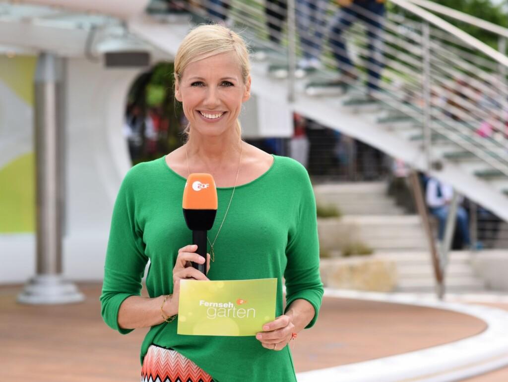 Andrea Kiewel moderiert den ZDF Fernsehgarten